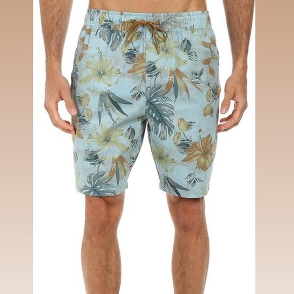 Billabong Dropout Elastic Floral Board Shorts